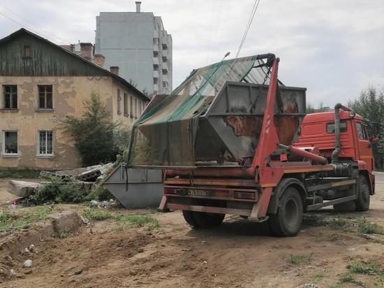 Перед приездом ОНФ на Таёжной в Чите убрали свалку и косят траву