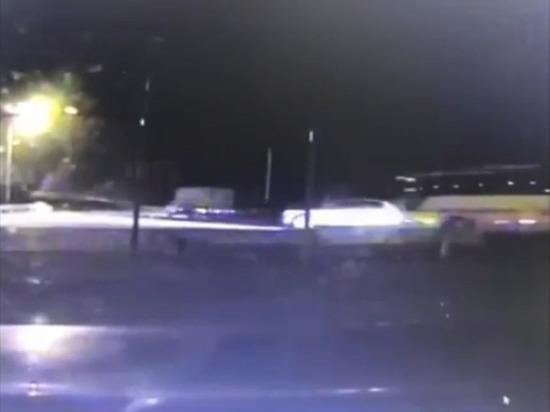 Опубликовано видео аварии с автобусом под Новороссийском