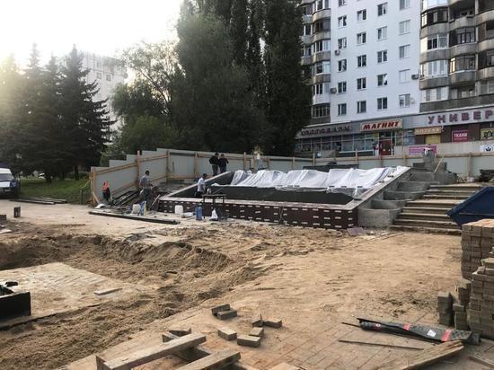 Реконструкцию фонтана на улице Рокоссовского завершат 17 августа