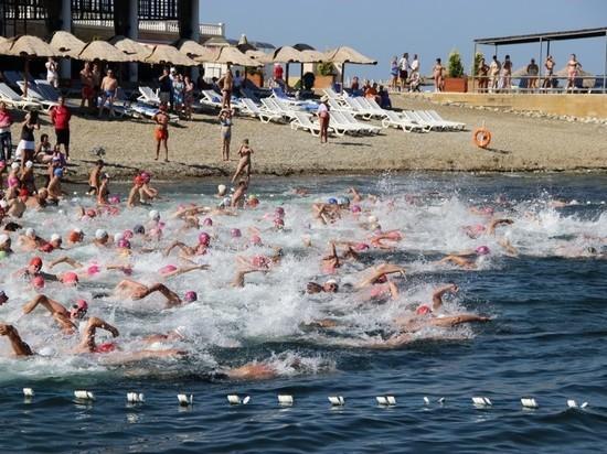 В Геленджике более 400  спортсменов проплыли «Морскую милю»