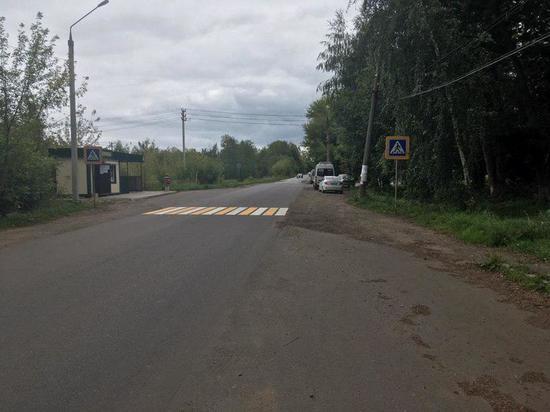 На месте гибели ребенка в Богородицке на дорогу нанесли