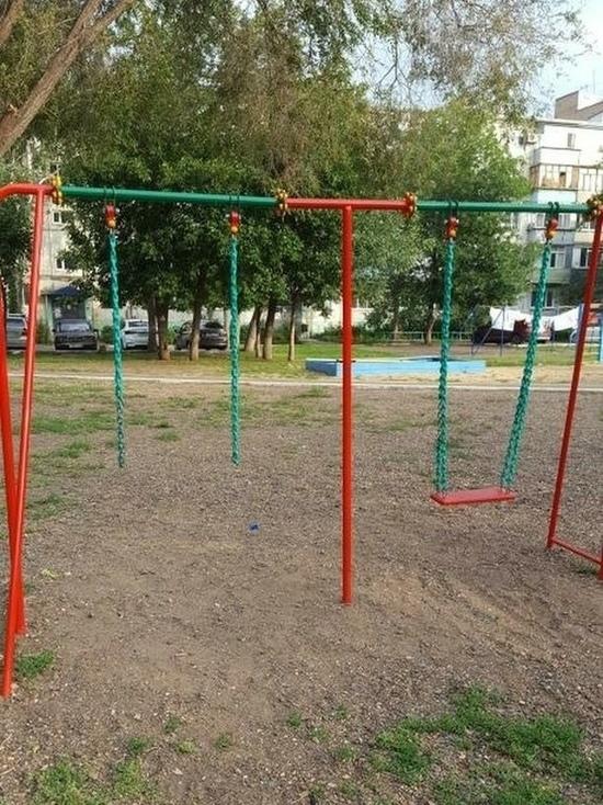 В одном из дворов Оренбурга украли качели