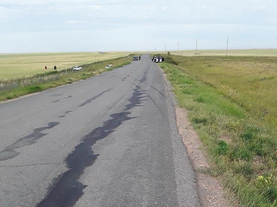 В Кваркенском районе на дороге погиб пассажир «ВАЗ-21070»