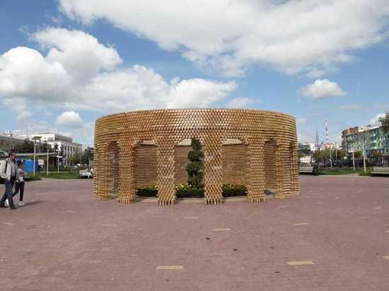 Ротонду возвели в Новом парке Калуги