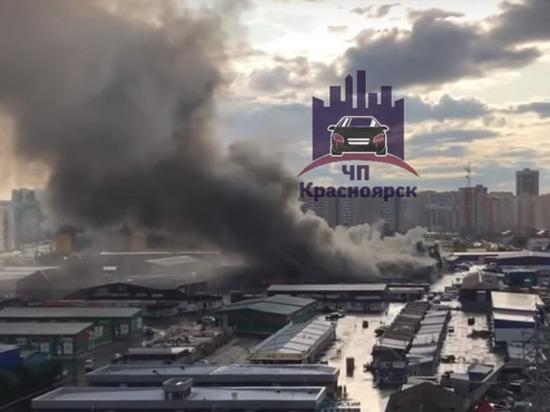 На Шахтеров горит Енисейский рынок