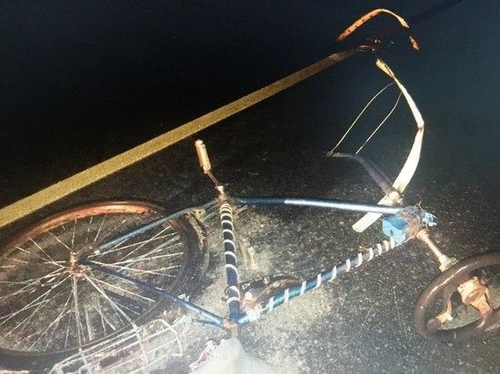 Водитель  VW Transporter сбил велосипедиста на трассе в Чувашии