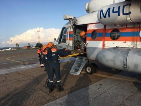В Бурятии спасатели из Тулы эвакуировали пострадавшего в ущелье туриста