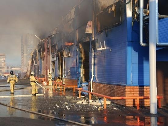 Спасатели рассказали о причине пожара на Енисейском рынке