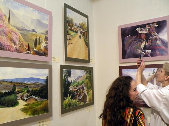 Во Владимире открылась выставка перуанских акварелистов