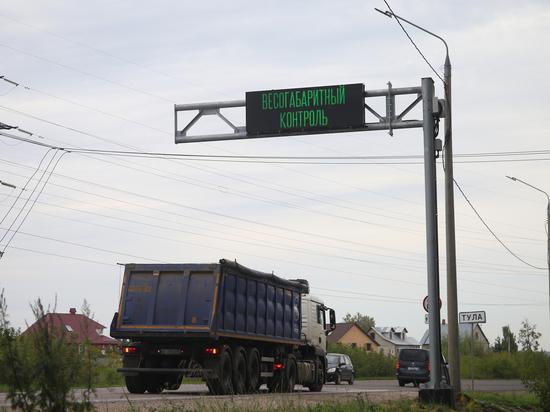 Неформатные большегрузы начнут штрафовать в Тульской области