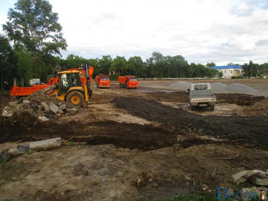 Продолжается реконструкция хабаровского стадиона