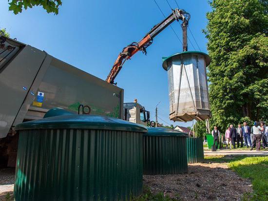 Заглубленные контейнеры для мусора устанавливают в Калуге