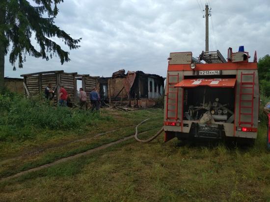 В Курской области заживо сгорели мать и трое детей