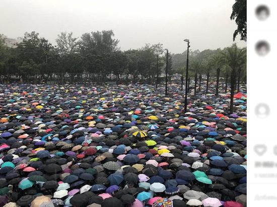 На митинг в Гонконге вышли 1,7 млн протестующих с зонтами