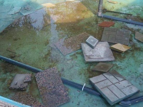 В Башкирии вандалы разрушили фонтан в новом парке