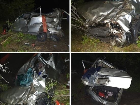 В опрокинувшемся в НСО автомобиле пострадали 9 человек