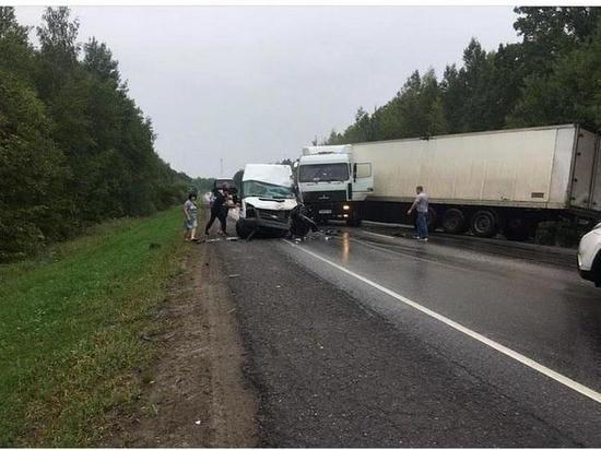 В Тамбовской области столкнулась фура и пассажирский микроавтобус