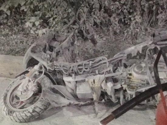 Из-за неудачного тюнинга в Новокузнецке на заправке взорвался скутер