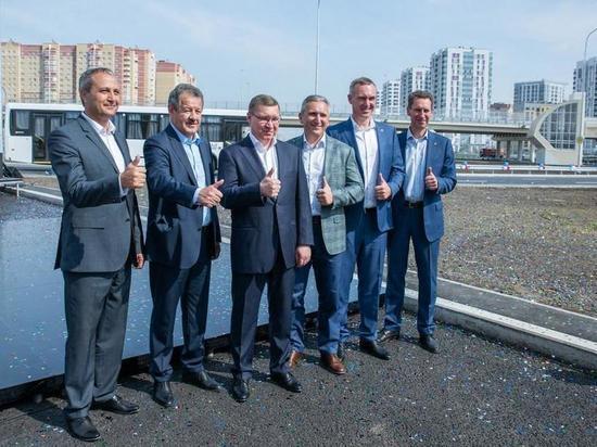 17 августа прошла торжественная церемония открытия движения по развязке на пересечении улиц Федюнинского и Монтажников
