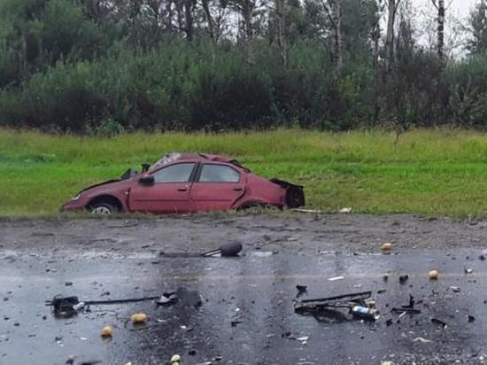 В Гагаринском районе в тройном ДТП погиб водитель одной из машин