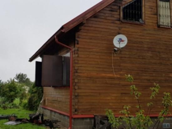 В Гагаринском районе из-за короткого замыкания горел дачный дом