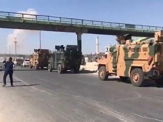 Сирийские ВВС атаковали конвой армии Турции
