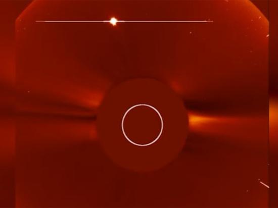На Солнце упала комета: видео опубликовано в Сети