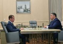 Губернатор Тверской области рассказал Дмитрию Медведеву о нацпроектах в регионе