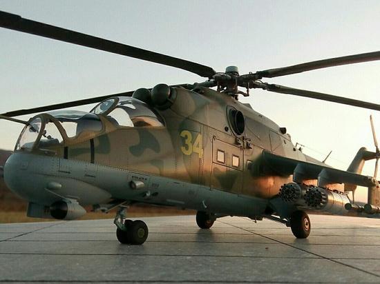 Два Ми-24П, ударных вертолета, которые предназначены для нанесениям ударов по живой силе и технике, поступили на вооружение бригады армейской авиации Центрального военного округа (ЦВО) в Свердловской области