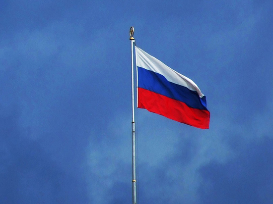 Над Донецком подняли российский флаг