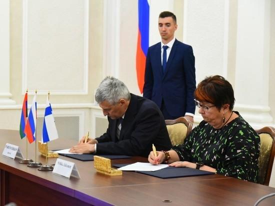 Карелия подписала с Восточной Финляндией меморандум о сотрудничестве