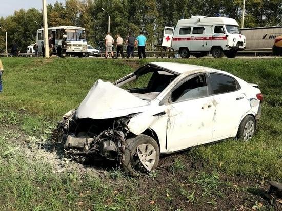 В Тамбовском районе иномарка врезалась в автобус