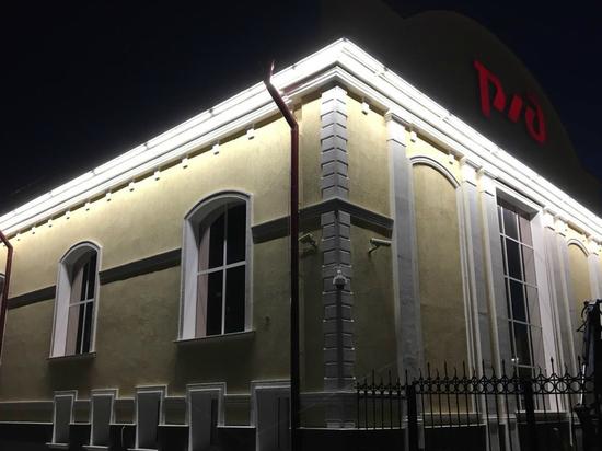Здание железнодорожного вокзала Рязань-2 подсветили