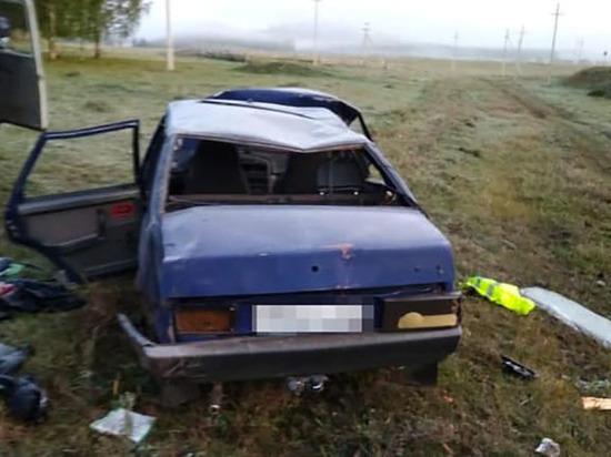 В Башкирии пьяный автомобилист без прав едва не погиб в ДТП