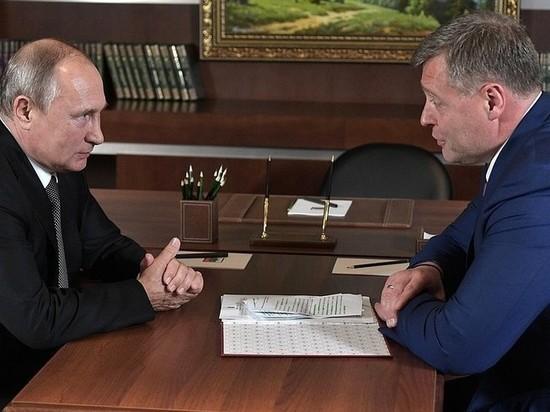 Путин пожелал Бабушкину удачи на выборах губернатора Астраханской области