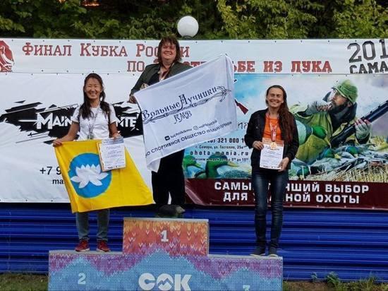 Серебро и бронза калмыцкой команды лучников