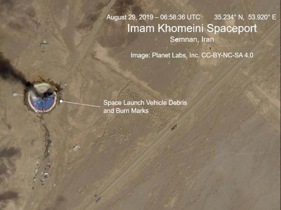 На иранском космодроме взорвалась ракета