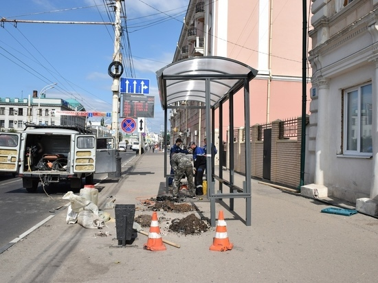 В Тамбове начали установку новых антивандальных павильонов