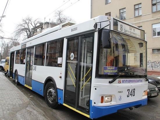 В Воронеже возобновилось движение троллейбусов по маршруту №8