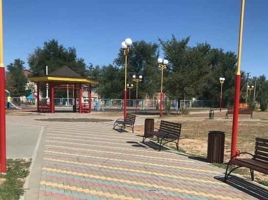 В калмыцком районе построили малый парк