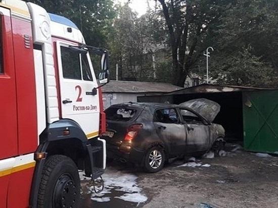 В Ростове один человек пострадал при пожаре в гараже