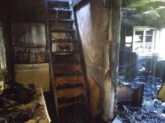 На пожаре в садовом домике пострадала жительница Казани