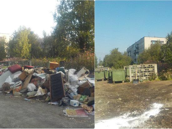 «Автоспецтранс» активно убирает территории возле мусорных площадок Петрозаводска