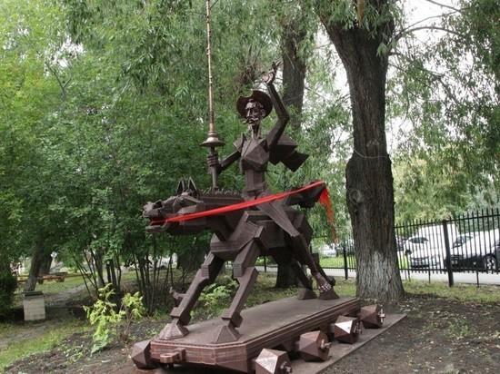 В Челябинске установили памятник Дон Кихоту