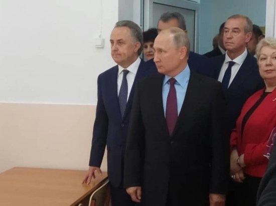 Владимир Путин посетил тулунскую школу № 6