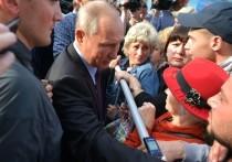 Жители Тулуна атаковали Путина на улице