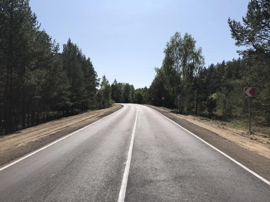 В Нижегородской области отремонтировали участок дороги в Сосновском районе