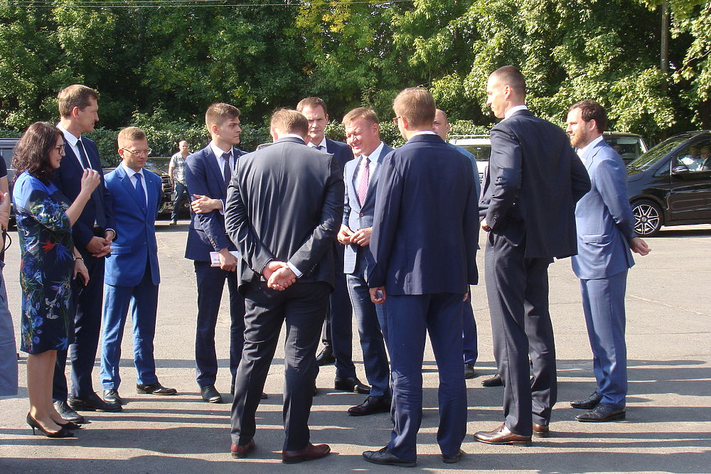 Закладка первого камня нового курского аэровокзала
