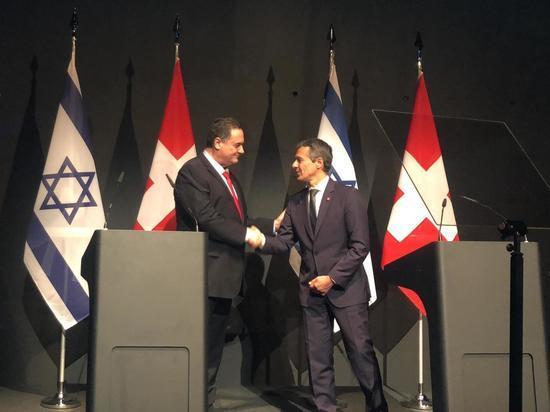 Глава МИД Исраэль Кац находится в Швейцарии с официальным визитом