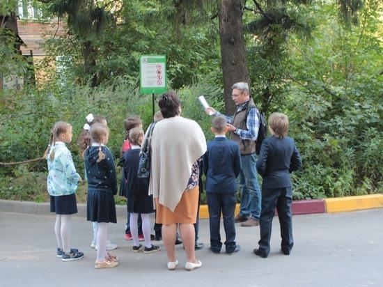 Нижегородским школьникам показали деревья-памятники